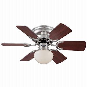 72307 Petite Ceiling Fan + Light Kit, Brushed Nickel, 30-In. - Quantity 1