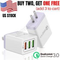 3 Port Fast Quick Charge QC 3.0 USB Hub Wall Charger Adapter For iPhone Samsung