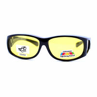 Fit Over Small Glasses Polarized Night Driving Yellow Lens Sunglasses