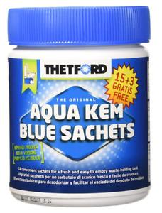 18 bolsitas Aqua Kem Blue Thetford Sachets especial para pottis químicos