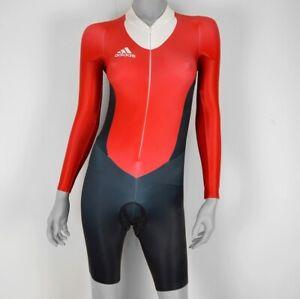 Adidas Ladies Bike Body Zeitfahranzug One Piece Bicycle Suit Track Black/Red