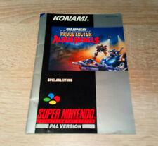 Super Nintendo (SNES) // Super Probotector Alien Rebels - Anleitung // dt. PAL