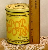 Vintage 1970s Popcorn Tin - Morley Candy Makers East Detroit MI Yellow 16oz