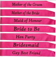 Fashion Hot Sale Hen Party Sashes Girls Night Out Accessory Pink Wedding Sash FG