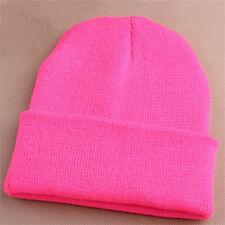 Pro Men's Women Beanie Knit Ski Cap Unisex Hip-Hop Blank Winter Warm Wool Hats