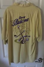Mens Large Tommy Bahama Yellow Stitched/Embroidered Golf Theme Shirt