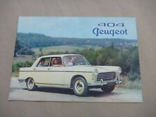 1960 PEUGEOT 404 Catalogue Brochure Prospekt Dépliant French
