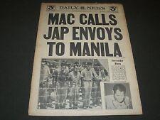 1945 AUGUST 16 NEW YORK DAILY NEWS - MAC CALLS JAP ENVOYS TO MANILA - NP 2076