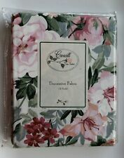 "CROSCILL Decorative Fabric 3 Yards 90"" Floral ROSE ARBOR NEW"