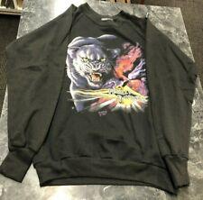 Vintage Sweat Shirt - Harley Davidson Panther MotorCycle Biker Rider NOS 1990