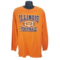 Illinois Fighting Illini Football Mens 2008 Rose Bowl T-Shirt XL Long Sleeve EUC
