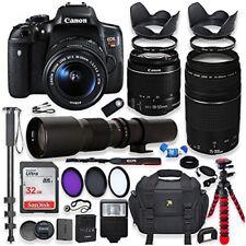Canon EOS Rebel T6i DSLR Camera with (3) Lenses + Accessory Bundle