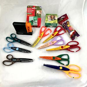 Provo Craft & Fiskars Scissors & glue stick + scrap booking supplies Lot