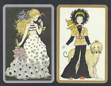 #920.322 Vintage Swap Card -NEAR MINT pair- Sarah Kay, Jokers