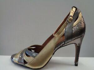 """Reiss Florence - Metallic Heeled Sandals Ladies Size UK 5 EUR 38 Ref M597"""""""