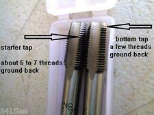 NPT Taps 1/8 - 27 TPI  inc Starter & Plug  2 tap set