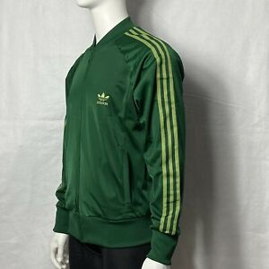 Adidas AGC002 2006 Mens L Trefoil 3 Stripes Track Jacket  Green & Bright Green