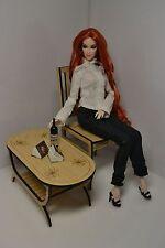 furniture for Dolls 1/6 1:6 dollhouse Coffee table FR Barbie author handmade