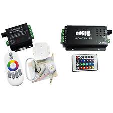RF IR LED Remote Music Controller for RGB 3528 5050 LED Strip Light 12V