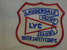 Lauderdale Yacht Club Water Safety Corps Patch LYC