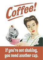 hb funny fridge magnet REDUCED!! Coffee If You/'re Not Shaking.