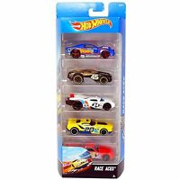 Hot Wheels RACE ACES 1:64 Scale Diecast Vehicle 5-Pack of Cars (DJD17) by Mattel