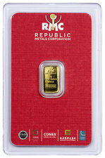 Republic Metals Corporation 1 gram Gold Bar (Sealed w/ Red Assay Card) SKU45741
