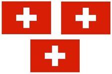 3 x PREMIUM Aufkleber Schweiz Fahne car Auto  Sticker 4 x 2,5  cm Autoaufkleber