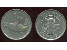 ISLANDE  1 krona  1984  ( bis )