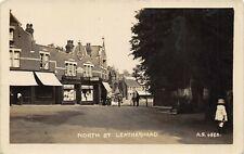 Leatherhead Surrey England UK 1920s RPPC Real Photo Postcard North Street