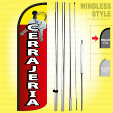 Cerrajeria Windless Swooper Flag Kit 15' Feather Banner Sign rq-h