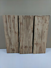 3 PC RUSTIC HICKORY LUMBER WOOD BOARDS- Live Edge - FREE Shipping!