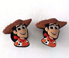 (2) Toy Story Woody Head croc shoe charms new