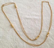 """Vintage Monet Gold Tone  Chain/Necklace 54"""""""