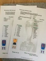1959-60 Wolverhampton Wanderers v Barcelona European Cup Matchsheets