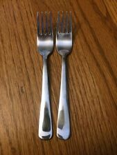IKEA DRAGON Stainless 2 Salad Forks Glossy Plain End Tips Up 6.5""