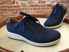 Clarks UnStructured Navy Blue Nubuck Leather Un Adorn Lace Up Sneaker NEW