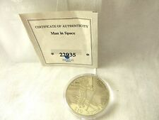AMERICAN MINT-FIRST MAN ONTHE MOON,MISSION APOLLO XI-$10 W/COA LIBERIA#N1.6/115
