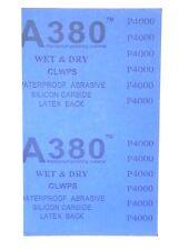 "Wet Dry  Sandpaper 4000 Grit (9"" x 11"", 5 Sheets )"
