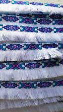 White Embroidered Trim Tassel 3.5cm Fringe DIY Indian Aztec Craft Price per 30cm