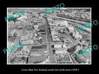 OLD LARGE HISTORIC PHOTO LOWER HUTT NEW ZEALAND AERIAL VIEW OF THE TOWN c1950 3