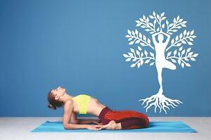 Yoga Vrksasana Tree Pose Meditation Decor Vinyl Wall Sticker Decal Bedroom
