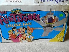 Vintage 1995 Flintstones Ceiling Fan NEW in Box with VHS Found the broken pieces