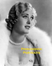 DOLORES COSTELLO 8X10 Lab Photo 1930's White Animal Fur Glamour Pearls Portrait