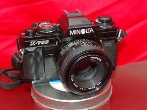 Minolta X-700 35mm SLR Film Camera & 50mm 1.7 Lense Fully Working with WARRANTY