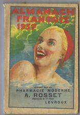 Almanach François 1937 Pharmacie Rosset Levroux Indre 160 pages