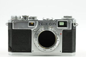 Nikon S2 Chrome Dial Nippon Kogaku Rangefinder Film Camera Body #699