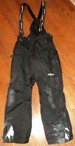 Spyder Thinsulate XT US men's size M black Full Side Zip Snow Pants Suspenders