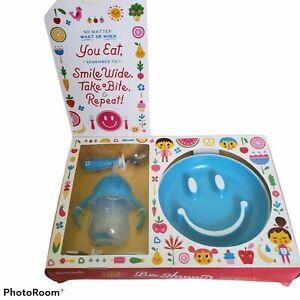 Munchkin Be Happy Toddler Dining Set Blue BPA Free 12+ Months