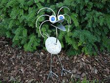 Garten Deko Figur Vogel Standard Naturstein Edelstahl Gartenfigur Steinfigur